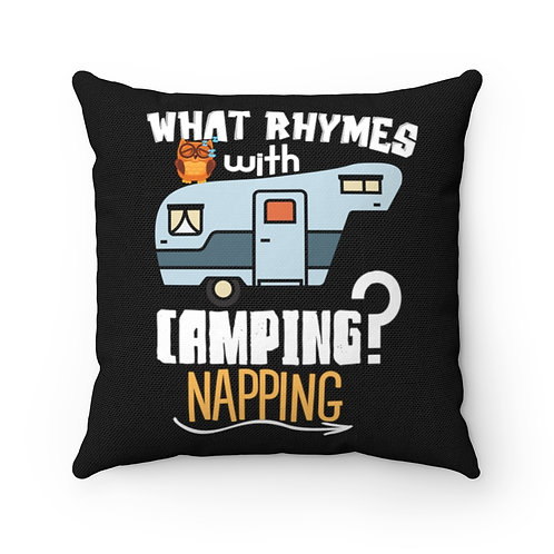 Camping Pillow | Camper Pillow & Cover | Camping Quote | Retro Trailer