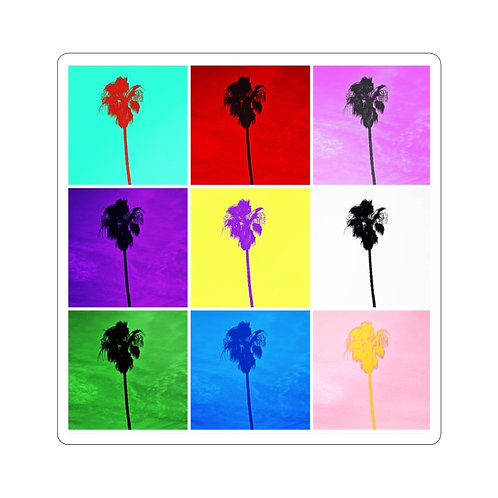 Pop Art Colorful Palm Trees (10pcs) With Envelopes