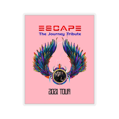 Escape The Journey Tribute Band 2021 Tour Kiss-Cut Pink Stickers