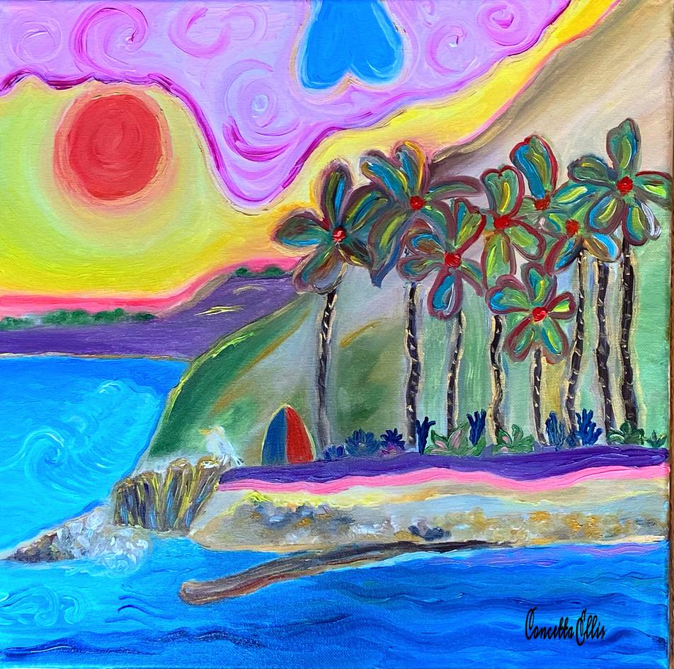 Painting Royal Palms San Pedro CA Origin