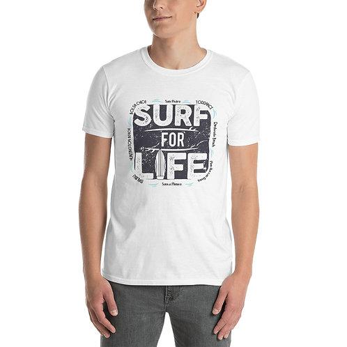 Short-Sleeve Surf T-Shirt | Surf For Life Gildan White Tee