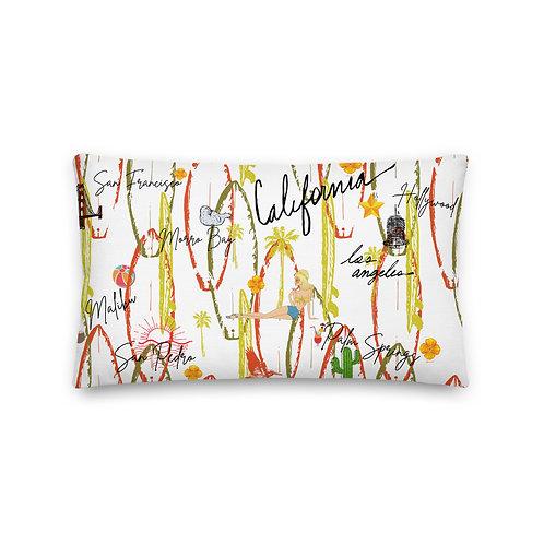 California Vintage Design Premium Pillow