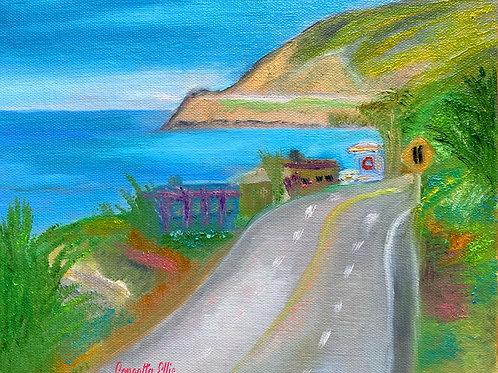 Greeting Card Malibu Coastline By Concetta Ellis