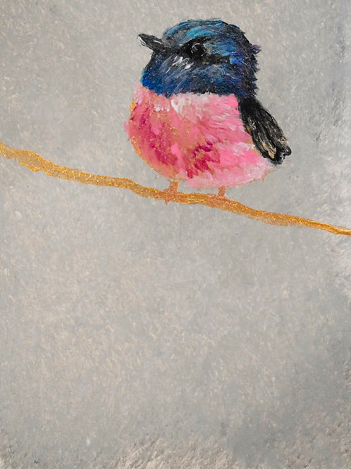Note Cards Pink Bird Art By Concetta Ellis