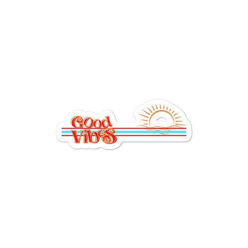 Good Vibes Retro Bubble-free stickers