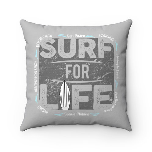Surfer Pillow   Grey Surf Pillow And Case   South Bay California Surf Pillow