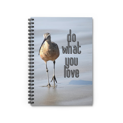 Notebook | Photo Of Bird | Long Billed Curlew | Seashore | Life Quote