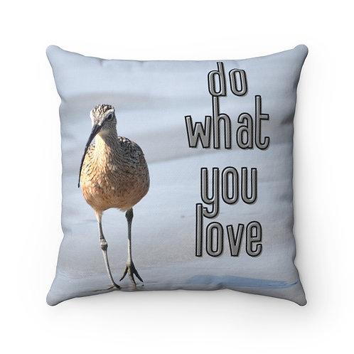 Pillow With Bird | Beach Pillow And Case | Shorebird | Life Quote