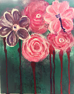 Dripping Flowers Painting By Concetta El