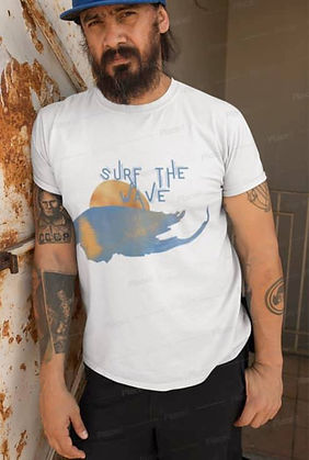 Man T-Shirt Surf The Wave By Concetta El