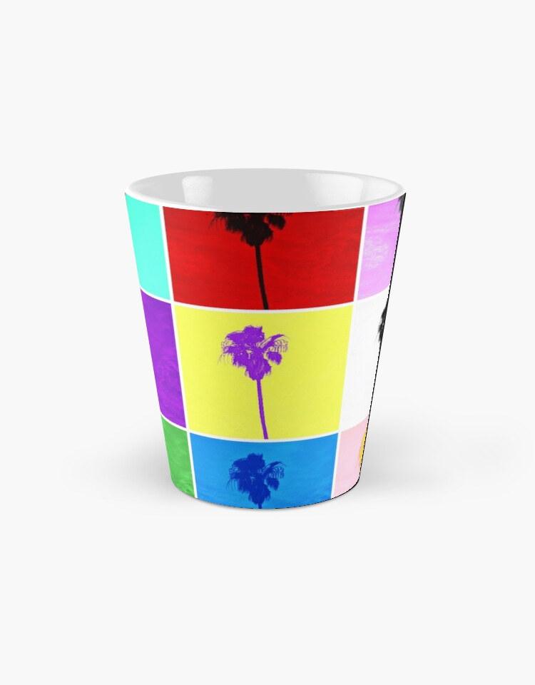 Tall Mug Pop Art Colorful Palm Trees Pho