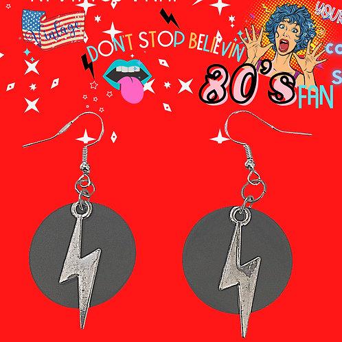 Lightning Bolt Earrings | Handmade Jewelry | Rock N Roll Earrings | 80s Style