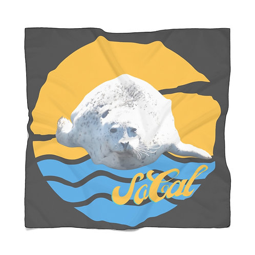 So Cal Scarf | Summer Scarf | Black Scarf | White Seal Scarf |