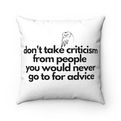 Owl Pillow | Owl Pillow And Case | Wise Quote