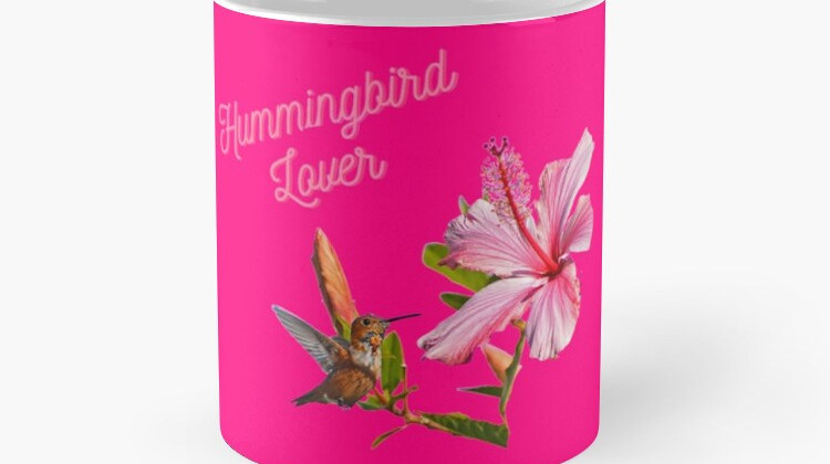 Hummingbird Lover Pink Mug Photography A