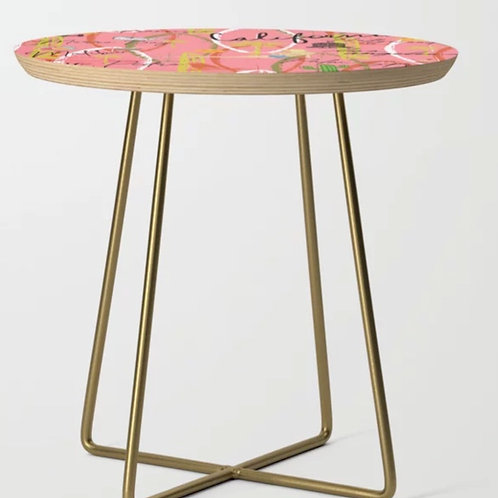 Pink California Vintage Side Table Round