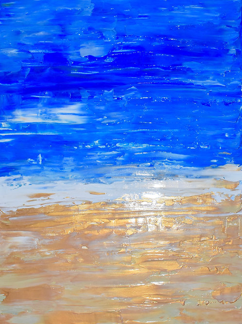 Note Card Abstract Ocean Golden Sand By Concetta Ellis