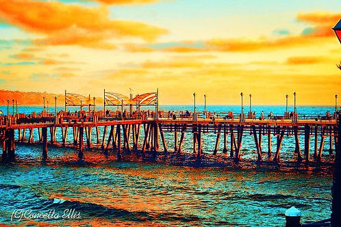 Note Card Redondo Beach Pier Photography By Concetta Ellis