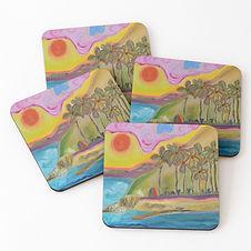 Hidden Gem Coasters Art By Concetta Elli