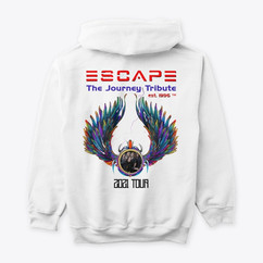 Hoodie Back View Escape Journey Tribute