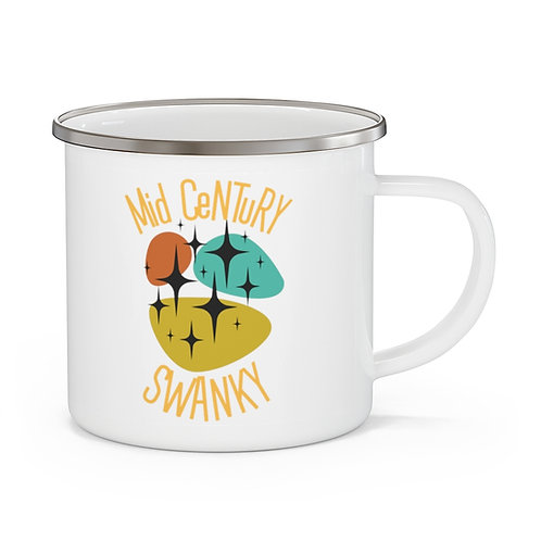 Enamel Camping Mug Mid Century Swanky