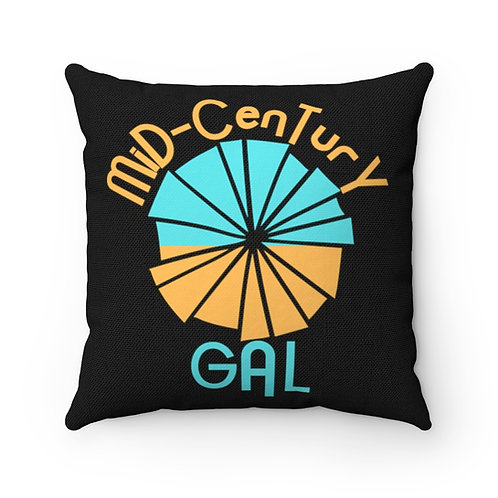 Retro Girl Pillow | Retro Mid-Century Pillow | Modern Boho Flower