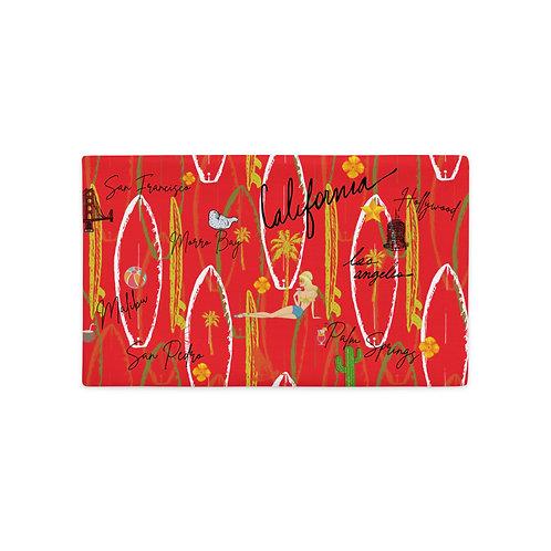 California Vintage Design Red Premium Pillow Case