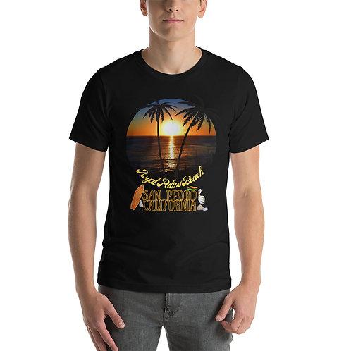 San Pedro California T- Shirt | Short-Sleeve Unisex Bella + Canvas Royal Palms