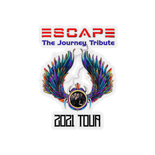 The Escape Journey Tribute Band 2021 Tour Kiss-Cut White Stickers