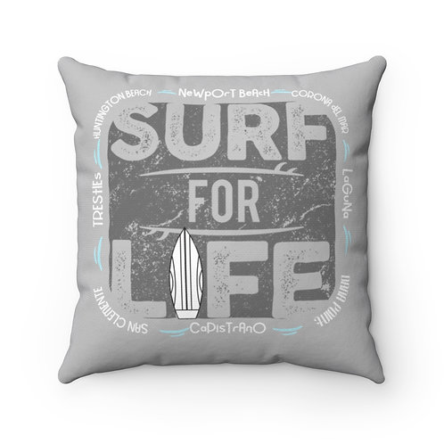 Pillow Surf For Life Grey OC | San Diego County
