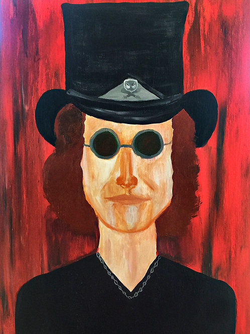 Note Card Musician Rock N Roll Top Hat By Concetta Ellis