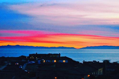 Note Card Sunset 34 Rancho Palos Verdes Photography By Concetta Ellis