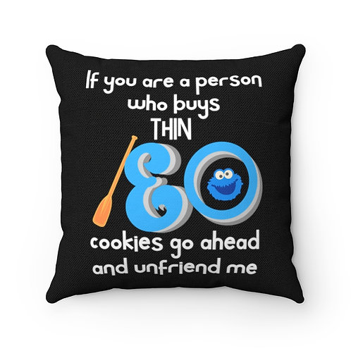 Pillow And Cover | Cookie Lover Pillow Funny Quotes | Black Pillow