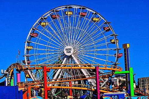 Note Card Ferris Wheel Santa Monica By Concetta Ellis