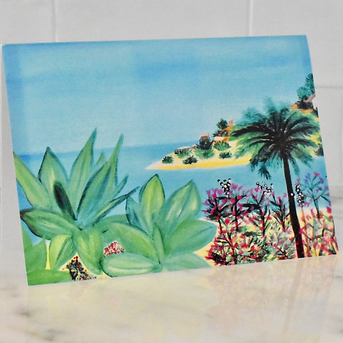 "Note Card Painting Art ""Rancho Palos Verdes Drive"" By Concetta Ellis"