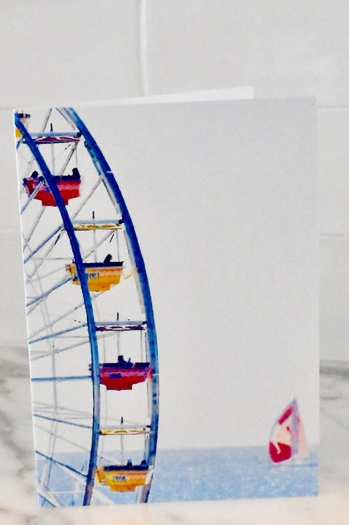 Note Card Ferris Wheel & Sailboat Photography By Concetta Ellis