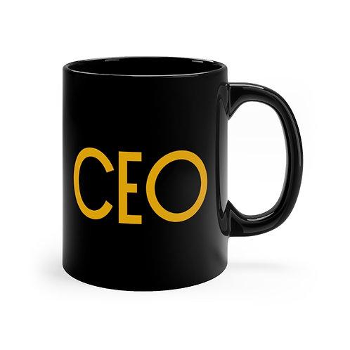 CEO Black Mug   Empowerment Mug   Gift For Boss   Gifts For Entrepreneur