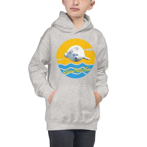 San Pedro California Kids Hoodie | White Seal