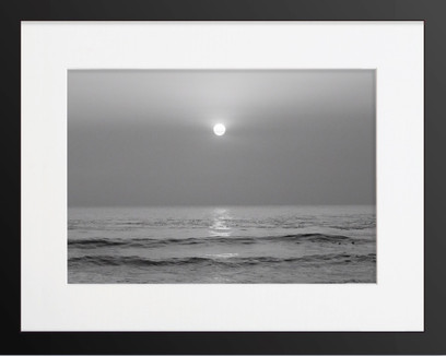 Framed Stockholm Black And White Sunset