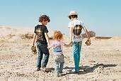 Kids wearing Royal Palms Beach T-shirts