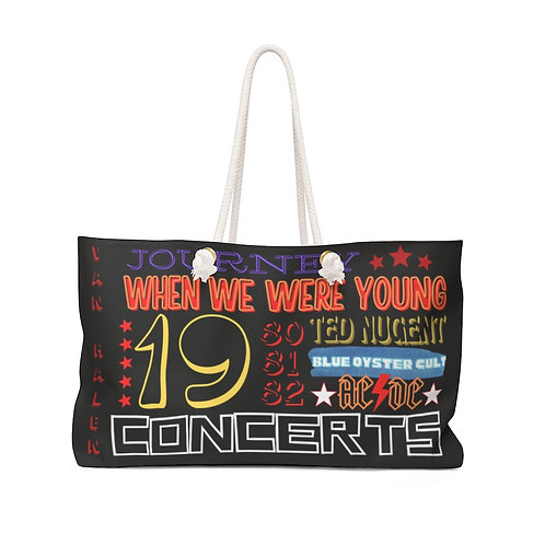 When We Were Young 80's Weekender Bag | BLACK