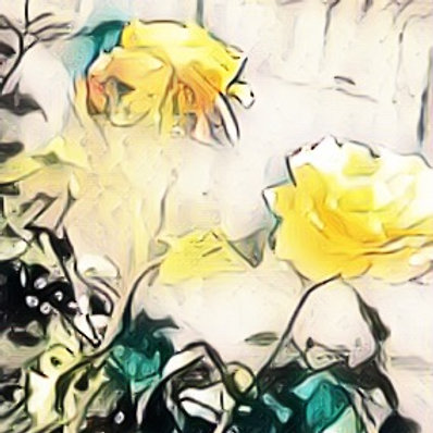 Note Card Yellow Rose Photo Sketch
