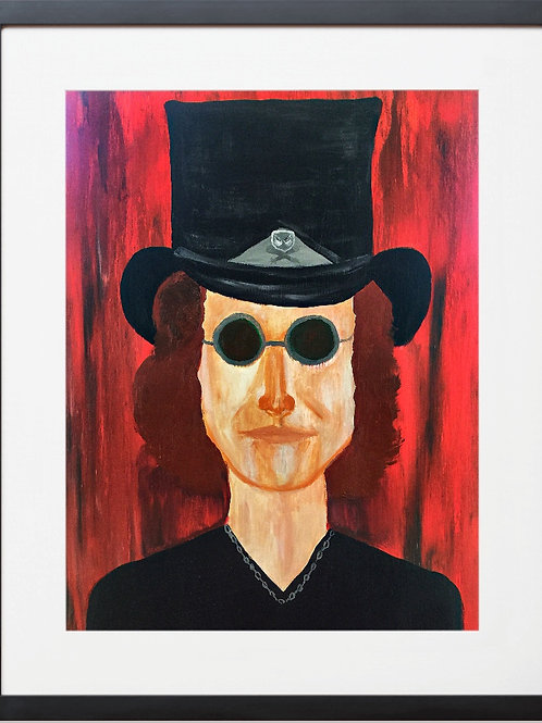 ROCK N ROLL MAN WITH TOP HAT  By Concetta Ellis