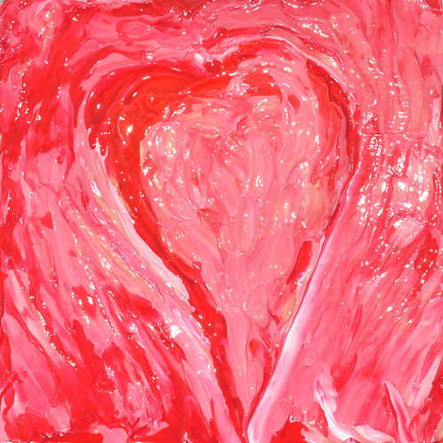 Note Card Heart 01 Abstract Art By Concetta Ellis