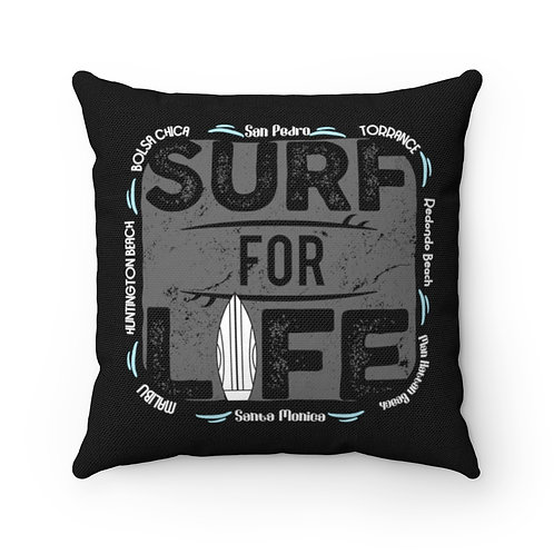 Surfer Pillow | Black Surf Pillow And Case | South Bay California Surf Pillow