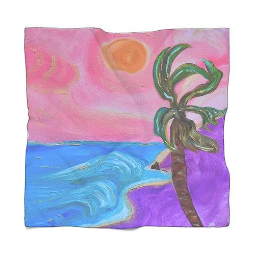 Scarf San Pedro California Royal Palms Beach | Poly Scarf