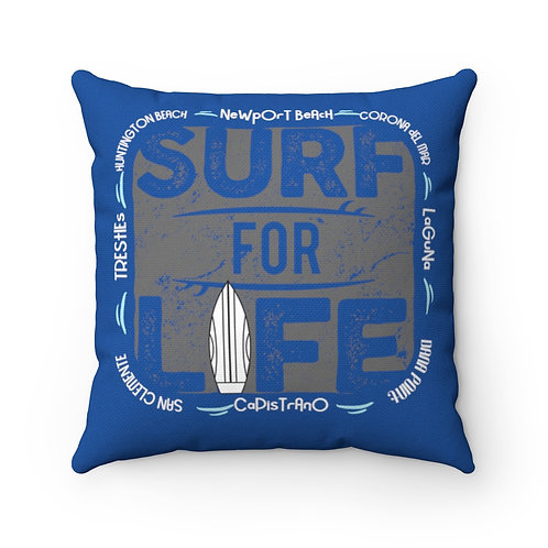 Surfer Pillow | Blue Surf Pillow And Case | Orange County Surf Pillow
