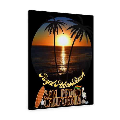 San Pedro California Royal Palms Beach Canvas Gallery Wraps