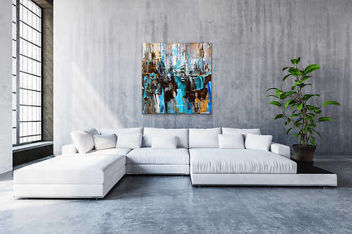 "Aluminyzed Metal Print |WATERFALL 2| 40"" x 60"" Art By Concetta Ellis"