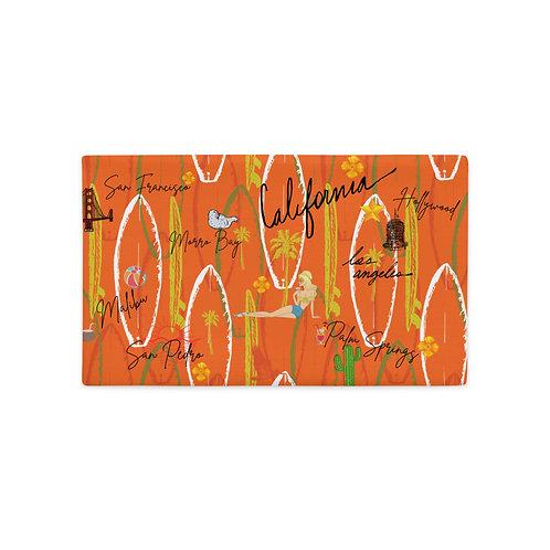 California Vintage Design Orange Premium Pillow Case